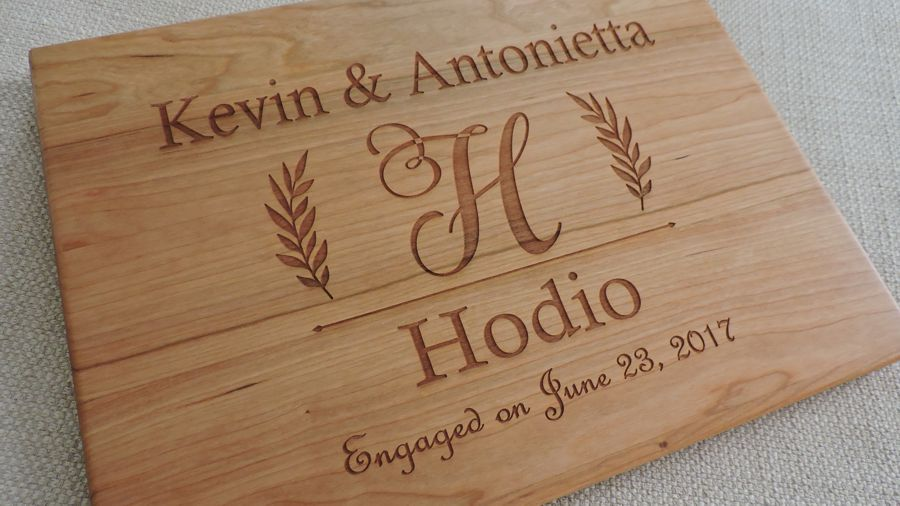 Forty Fifth Wedding Anniversary Gifts: Personalized Anniversary Gift Cutting Board Any Year