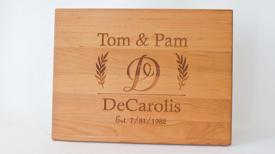 Twenty Fifth Wedding Anniversary Gifts: Personalized Anniversary Gift Cutting Board Any Year