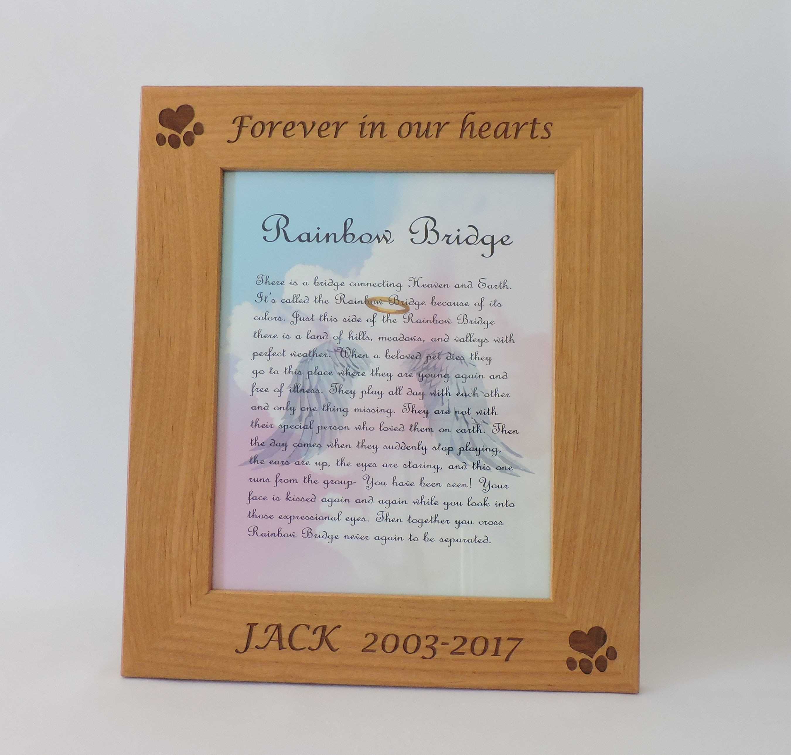 Dog Memorial Frame, Personalize Pet Picture Photo Frame by Forever ...
