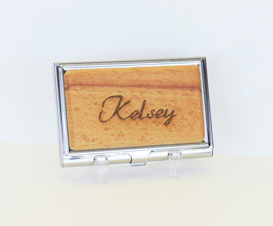 wood metal business card case web photo - Metal Business Card Case