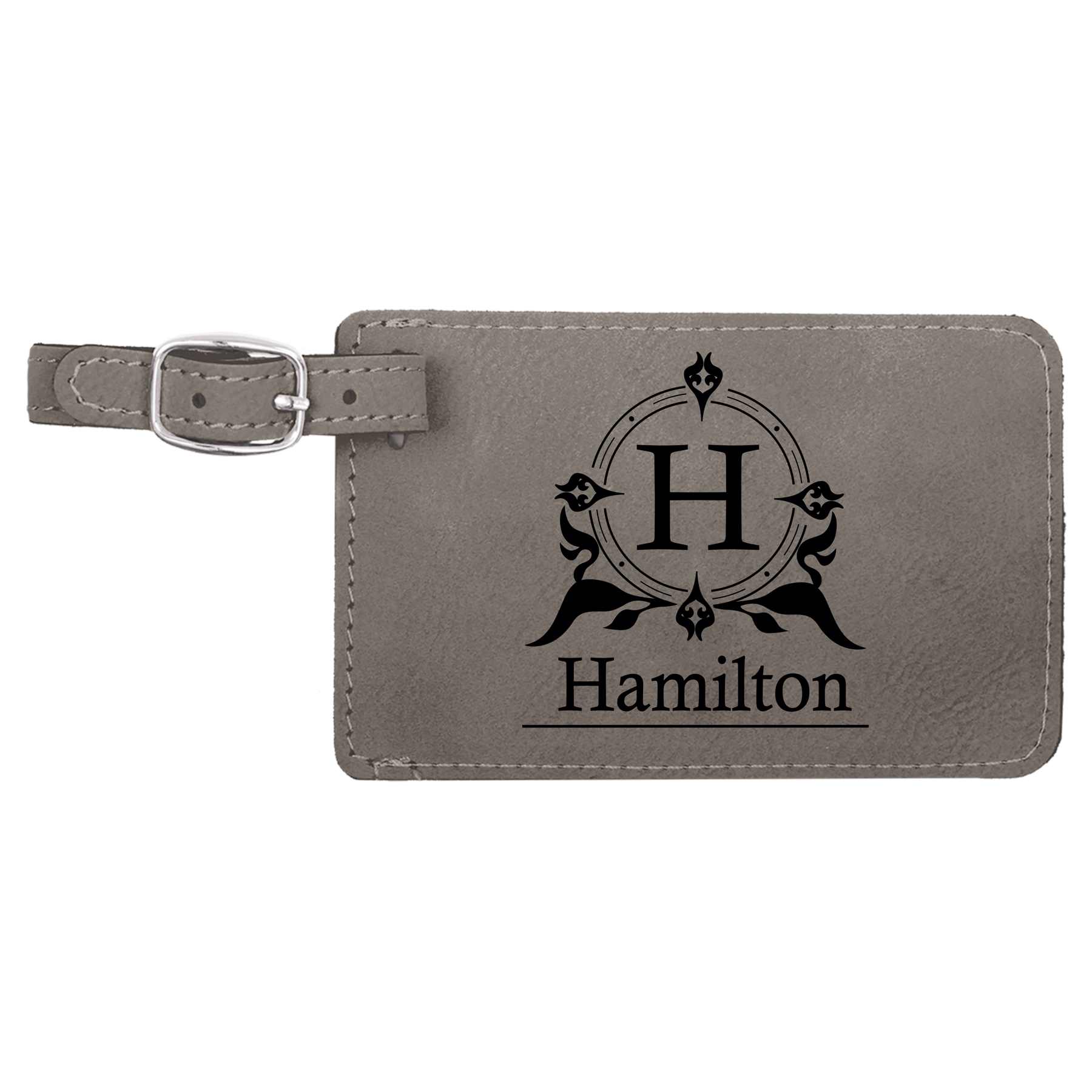 Personalised Initials Black Luggage Tag Gift Honeymoon Present Holiday Travel Luggage & Travel Accessories